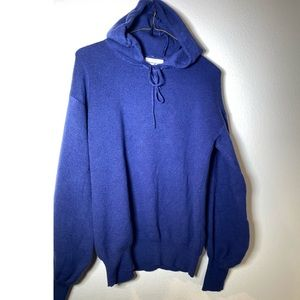 For the Republic Super Soft blue hoodie sweater Size Small